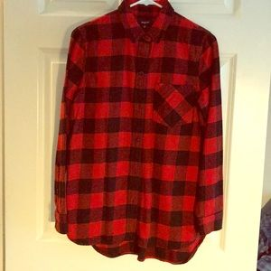 Cozy Madewell black & red flannel